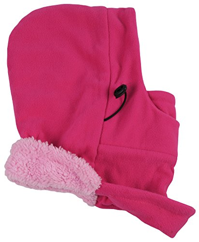 N'Ice Caps Adults Unisex Sherpa Lined Multi Layered Fleece Balaclava Face Mask (One Size Fits Most, Fuchsia/Pink)