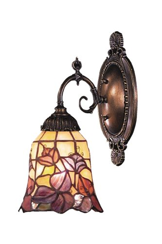 Elk 071-Tb-17 Floral Garden Mix-N-Match 1-Light Sconce, 10-Inch, Tiffany Bronze