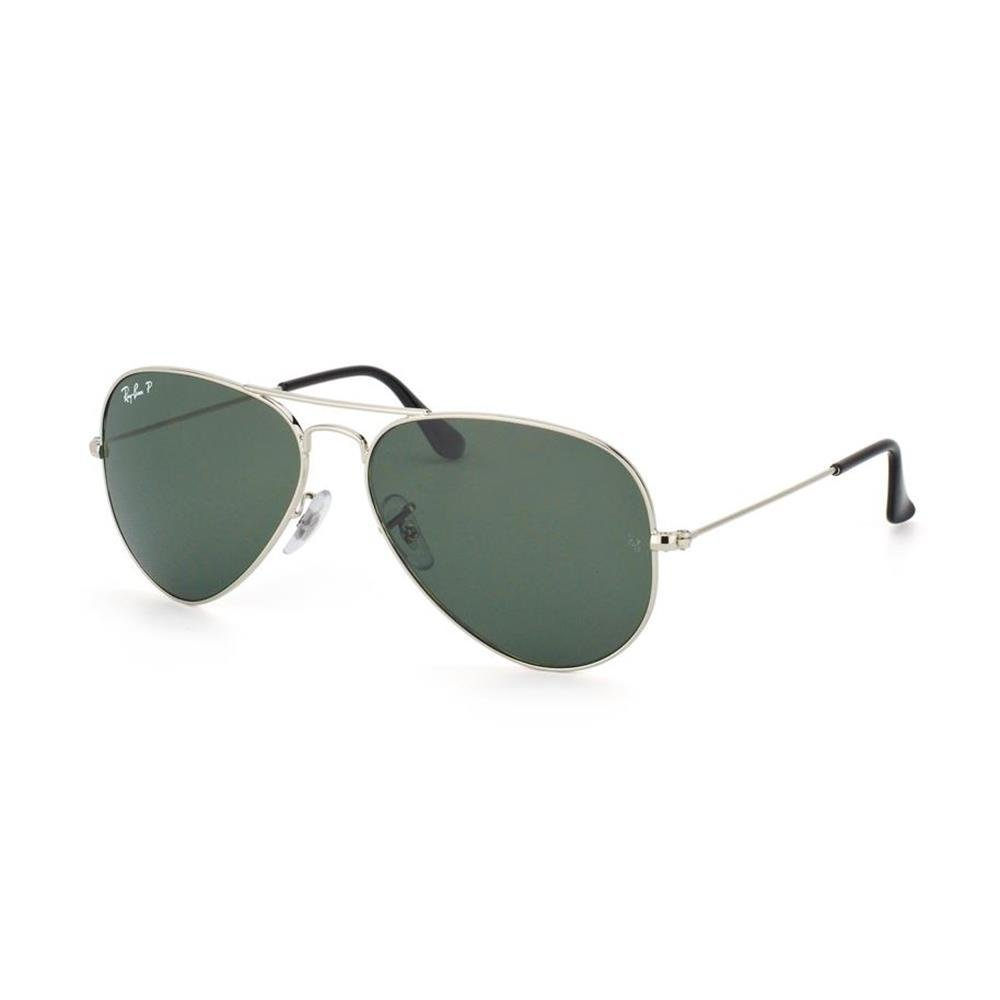 35dc185d8 Ray-Ban UV protection Aviator Men's Sunglasses (003/58|58  millimeters|Crystal Green Polarized): Amazon.in: Clothing & Accessories