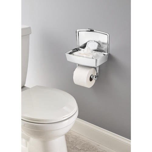 Delta Porter Polished Chrome Toilet Paper Holder with Mobile Phone Storage by Delta (Image #2)