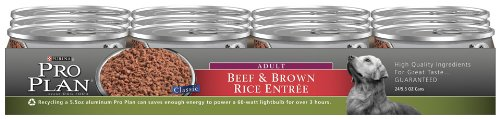 Purina Pro Plan Adult Dog Food, Beef and Brown Rice Entree, 5.5-Ounce Cans (Pack of 24), My Pet Supplies