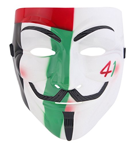 V for Vendetta Guy Fawkes Mask Anonymous Halloween Cosplay Fancy Dress Costumes (Face Masks Fancy Dress)