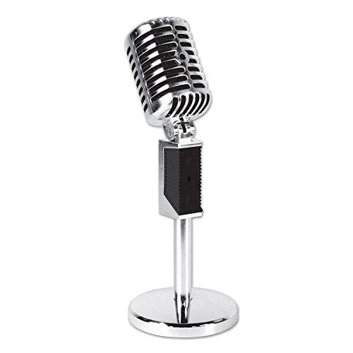 Beistle 54688 Plastic Vintage Microphone