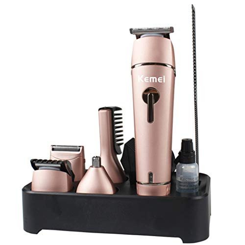 5 in 1 Washable Professional Hair Clipper Electric Hair Trimmer Nose Ear Body Beard Trimmer Shaver Hair Cutting Machine AC 110-240V,B
