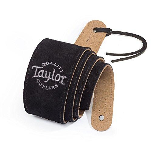 Taylor Guitars Black Suede Logo Guitar Strap