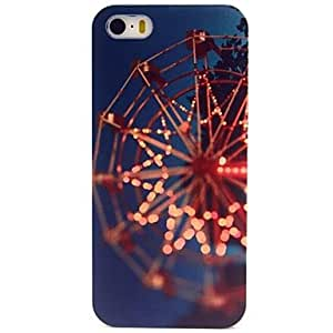 TOPAA Lonely Ferris Wheel Pattern Hard Plastic Case for iPhone 5/ 5S