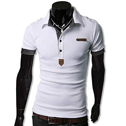 KMAZN ポロシャツ メンズ Tシャツ カットソー 半袖 ロンT エポレット ゴルフウェア トップス カジュアル コーデ 春 夏 秋 メンズ ファッション