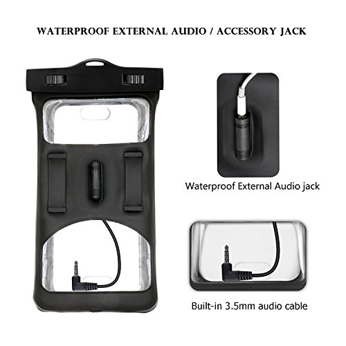 Floatable Waterproof Phone Case, Vansky Waterproof Phone Pouch Dry Bag with Armband and Audio Jack for iPhone X, 8 Plus, 8, 7 Plus, 7, 6s, 6, Andriod; TPU Construction IPX8 Certified by Vansky (Image #1)