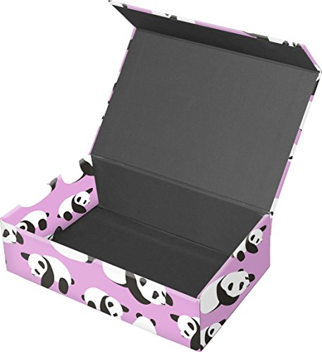 "Snap-N-Store Magnetic Supply Box, 2.5"" x 5.5"" x 8.5"", Pink Pandas (SNS03322)"