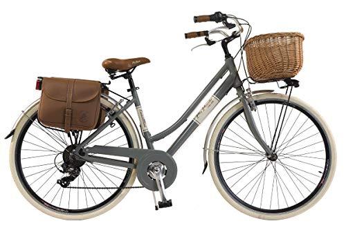 🥇 Via Veneto by Canellini Bicicleta Bici Citybike CTB Mujer Vintage Retro Via Veneto Aluminio