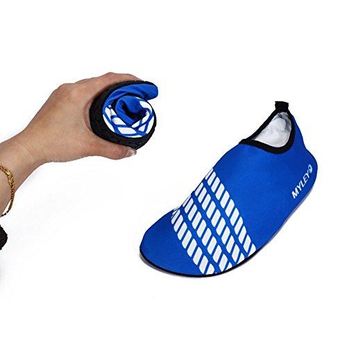Män Kvinnor Pull-on Snabb Torr Hud Vattensporter Aqua Skor Strumpor Utomhus Sneaker Holey Ventilation Kpu Yttersula 4blue