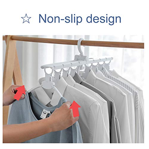8-in-1 Hangers,Foldable Multi-Function Hanger Hanging 8 Pieces of Clothes to Save Space and Drying Clothes by DFS (Image #5)