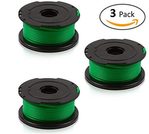 Feed Replacement Spool - BLACK+DECKER SF-080 compatible replacement Trimmer Spool (3-Pack), fit model GH3000