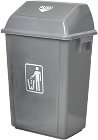 C-J-Xin La Basura del jardín Pueden, de Alta Capacidad al Aire Libre Comercial Papelera con Tapa Calle Saneamiento Caja de Limpieza de baño Cubo de Basura Alta Capacidad (Size : 42L): Amazon.es: