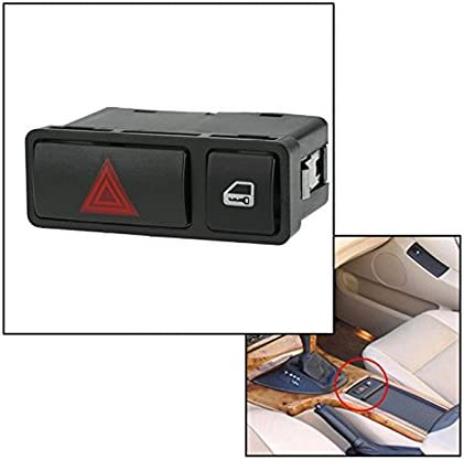Hazard Warning Light Emergency Switch Door Central Locking Button For BMW E46