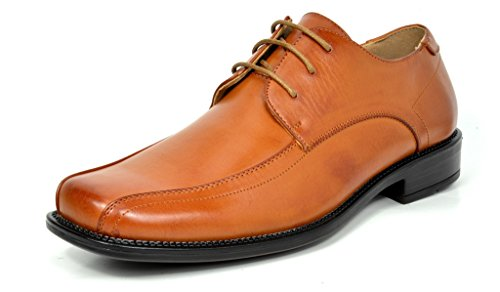 Bruno Marc Men's State-02 Brown Classic Business Dress Shoes Square Toe Leather Lined Oxford - 10 M US