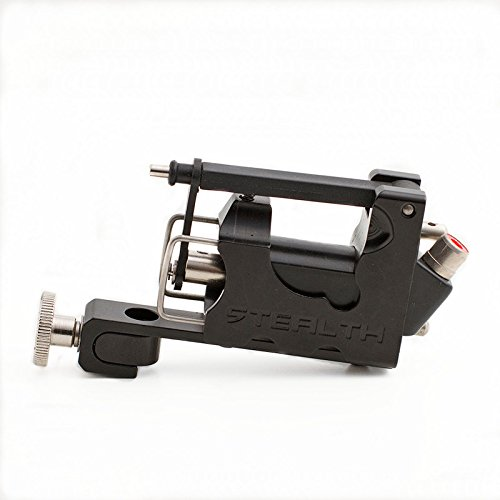 EZTAT2 Rotary Tattoo Machine Gun for Liner Shader Aircraft Aluminium Frame Black