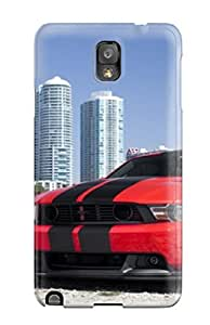 Protection Case For Galaxy Note 3 / Case Cover For Galaxy(tunned Red Car On Beach)