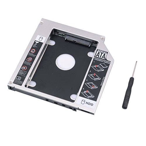 R REIFENG SATA 2nd HDD HD Hard Drive Caddy Case for 12.7mm Universal Laptop CD / DVD-ROM Optical - Satellite Toshiba Cd Driver