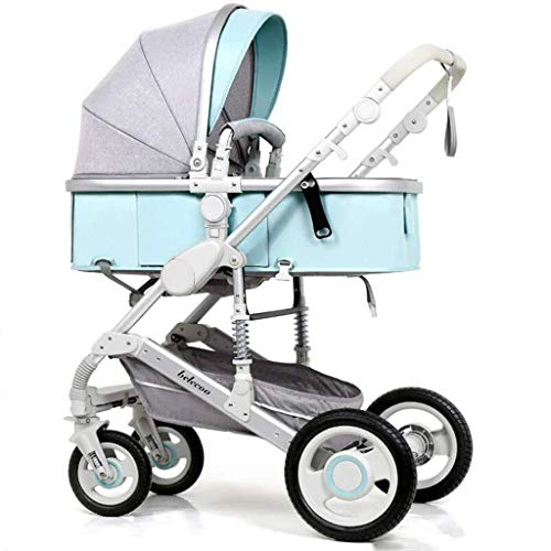 MRXUE High Landscape Stroller Multi-Function Ultra-Light Portable Foldable Two-Way Adjustment Four-Wheeled Trolley Easy to Store 0-3 Years Old,#5