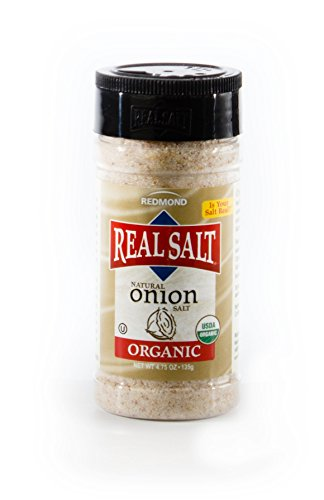 Redmond Real Sea Salt - Natural Unrefined Organic Gluten Free, Onion 4.75 Ounce Shaker