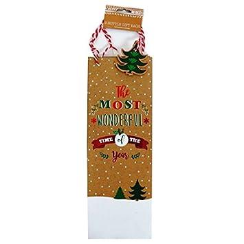 Christmas bottle gift bags