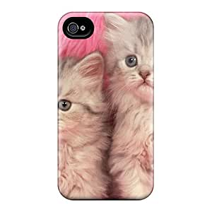 Awesome Design Cats On Pink Hard Case Cover For Iphone 4/4s