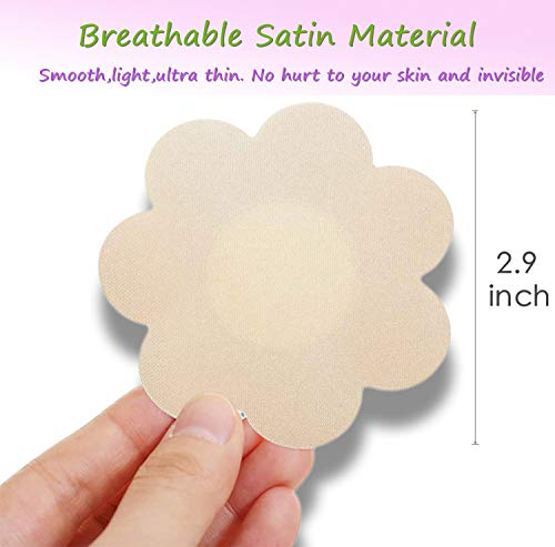 40 Pairs Nipple Covers For Women Disposable Self-Adhesive Satin Nipple Petals Breast Pasties