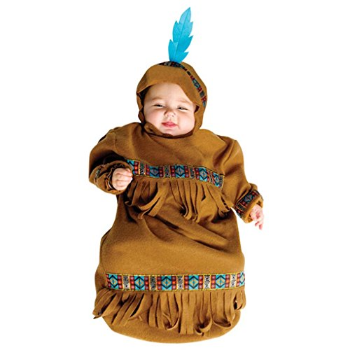 Faerynicethings Wild West Infant Papoose American Indian Bunting (Wild West Costumes Indians)