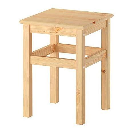IKEA Oddvar - Sgabello in legno di pino massiccio, altezza seduta 45 ...