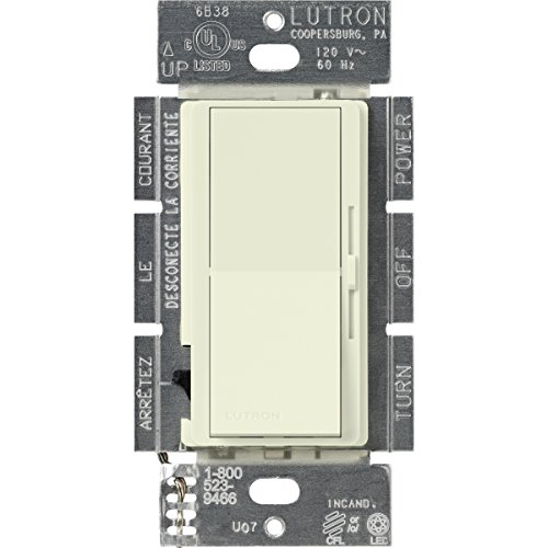 Lutron DVSCCL-253P-BI Diva 250-watt Single Pole/3-Way CFL/LED Dimmer, (Electric Range Biscuit)