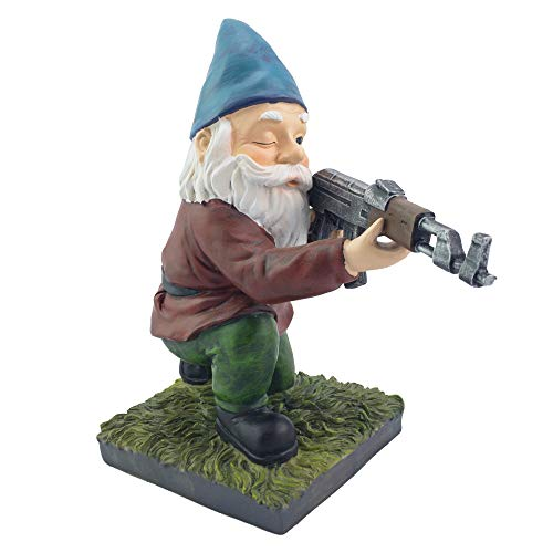 - Military Garden Gnome With An AK47 | Funny Army Statue, Perfect For Gun Lovers, Military Collectors, Combat Enthusiasts & Army Men | Indoor & Outdoor Lawn Yard Décor (Kneeling, Traditional)