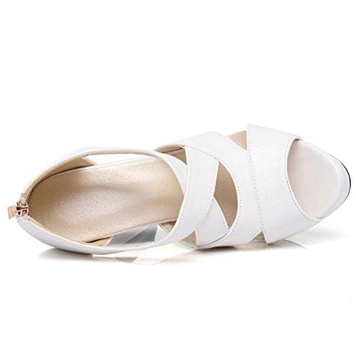 Zanpa White Donna 3 Piattaforma Mode Sandali FOFqXrw