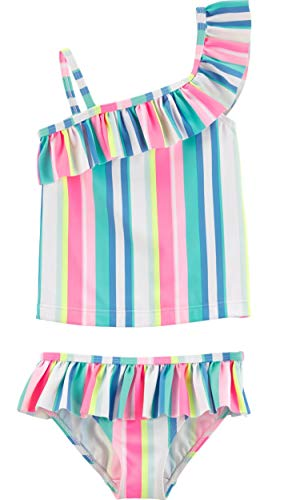 Carter's Toddler Girls' Two-Piece Swimsuit, Ruffle Stripes, -