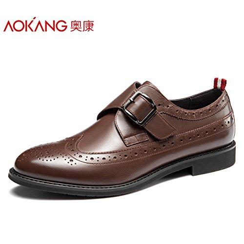Calzatura Aemember uomini di affari di corrente adatta alle scarpe da Uomo Casual Scarpe, Scarpe Uomo marrone,39,