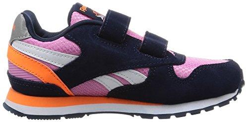 Reebok Gl 3000 2v, Zapatos de Primeros Pasos Para Bebés Rosa / Azul / Naranja / Blanco (Icono Pink/Navy/Electric Peach/Reflectve)