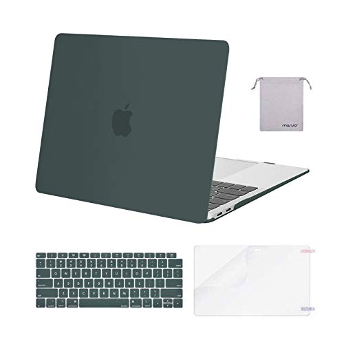 MOSISO Plastic Hard Case Shell&Keyboard Cover&Screen Protector&Storage Bag Compatible with MacBook Air 13 inch with Retina Display green MO-4IN1-13ARM-MDGreen
