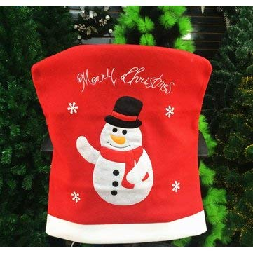 Santa Claus Christmas Chair Cover Event Party Christmas Snowman Dinner Chairs Cover Home Decor - Table & Sofa Linens Chair Cover - (01) - 1 x Santa Claus Christmas Chair Cover ()