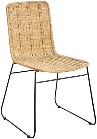 Tousmesmeubles Chaise en RotinMétal ASLI n°1 L 42 x l
