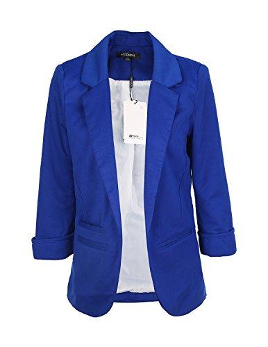 Women's Slim Business Blazer Blue - 4
