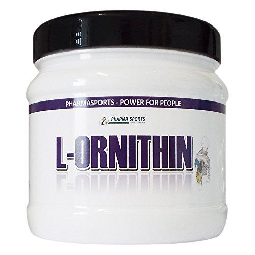 L-Ornithin Pulver 300g in Dose - PREMIUM Qualität - gewonnen durch pflanzliche Fermentation (Menge wie 600 Kapseln a 500mg)