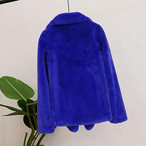 women Veste Outwear fan Plush Manteau Pull chaud Odjoy Top Cardigan épais Bleu capuche d'hiver Pull Veste Cardigan Blouses d'hiver Pull Manteau à f577w0