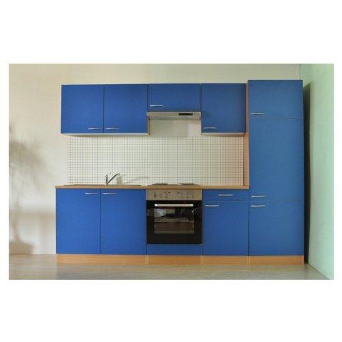 Mebasa MEBAKB27BC Küche Küchenzeile 270 cm Küchenblock Blau ... | {Küchenblock mit elektrogeräten 12}