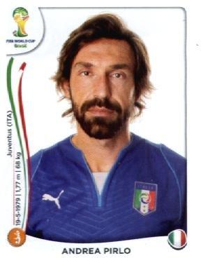2014 Panini World Cup Soccer Sticker #327 Andrea Pirlo Mint