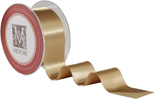 Satin Midori Ribbon - Holiday Double Faced Satin Ribbon - Blond (3/8