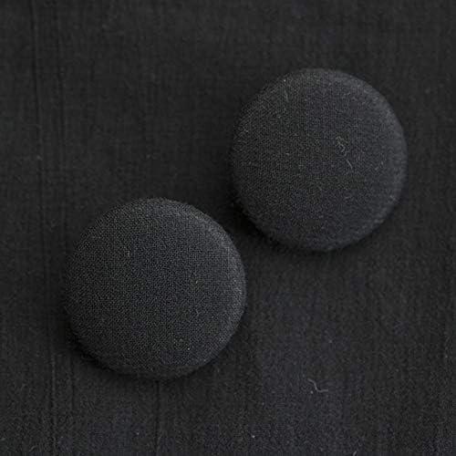 くるみボタン(平くるみボタン) #BT186 1穴 30mm C/#BLACK ブラック 2個セット