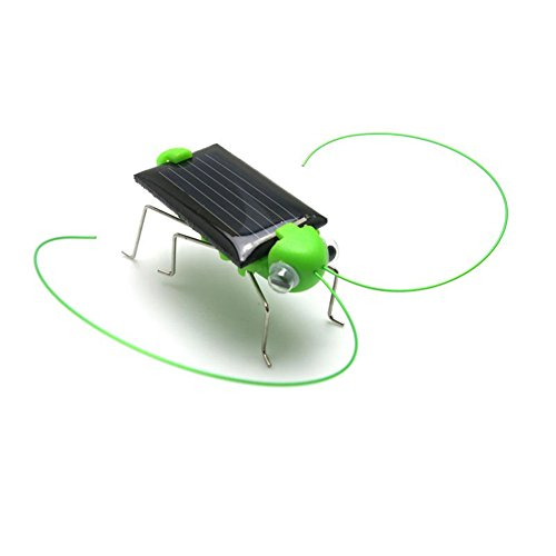- Wenasi Solar Power Toy Energy Crazy Grasshopper Cricket Kit Christmas Gift Toy 1.57 inch