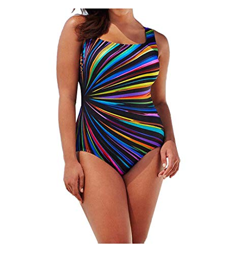 (Hessimy Womens Sexy Swimwear One Piece Stripe Zebra Monokini Swim Costume Padded Push Up Bikini Bathing Set for Women )