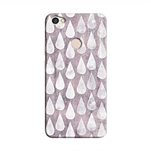 Cover It Up - Raindrops Print Violet Redmi Y1 Hard Case