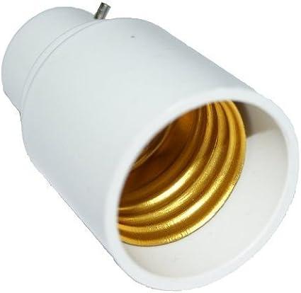 Aistuo B22 to E27 Adapter 2 Pack LED Bulb Base Converter Halogen CFL Light Lamp Adapter Socket Change